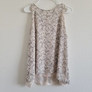 Lila Rose Relaxed High Neck Wild Flower Blouse